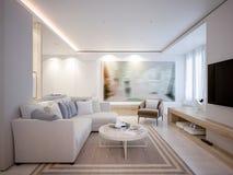 Vida aberta e sala de jantar da luz elegante e luxuoso Foto de Stock Royalty Free