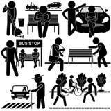 Vida al aire libre diaria de la gente Stock de ilustración
