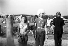 Vida americana del vintage - partido del delirio de Techno Imagen de archivo