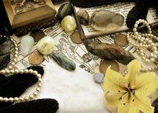 Aún vida astrológica de los símbolos del zodiaco - libra Fotografía de archivo libre de regalías