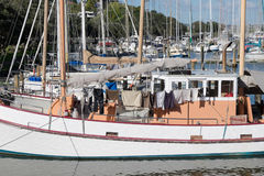 Vida a bordo do barco no porto de Whangarei Imagem de Stock Royalty Free