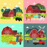 Vida Cliparts da exploração agrícola Fotos de Stock Royalty Free