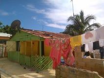 Vida, colores y sol dominicanos foto de archivo