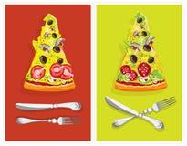 Aún-vida comestible. Pizza Fotografía de archivo libre de regalías