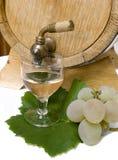 Aún-vida con el vino blanco Foto de archivo libre de regalías