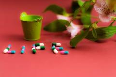 Vida con píldoras Fotos de archivo