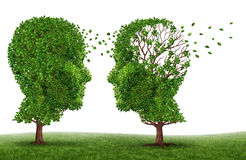 Vida con un paciente de la demencia Imagen de archivo libre de regalías