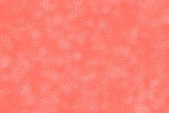 Vida coralina - color del año 2019, fondo rosado milenario del modelo del confeti del copo de nieve stock de ilustración