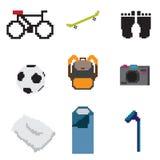 Vida cotidiana del pixel Imagen de archivo