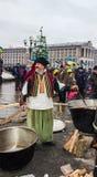 Vida cotidiana en el Maidan Foto de archivo