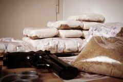 Vida criminal - drogas Fotografía de archivo libre de regalías