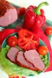 Vida da carne e dos vegetais ainda Fotografia de Stock Royalty Free