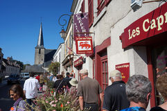 Vida da cidade pequena em França Imagem de Stock