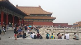 Vida da Cidade Proibida no Pequim, China fotos de stock