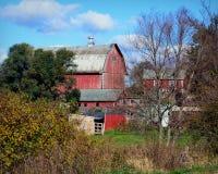 Vida da exploração agrícola do país de Wisconsin foto de stock royalty free