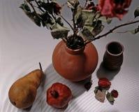 Vida da fruta e das flores ainda Fotografia de Stock