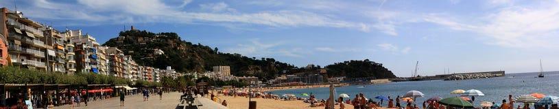 Vida da praia em Blanes Foto de Stock Royalty Free