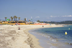 Vida da praia em Saint-tropez Foto de Stock Royalty Free