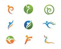 Vida da saúde e logotipo do divertimento Imagens de Stock