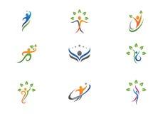 Vida da saúde e logotipo do divertimento Fotos de Stock Royalty Free