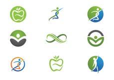 Vida da saúde e logotipo do divertimento Fotografia de Stock