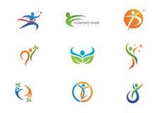 Vida da saúde e logotipo do divertimento Imagem de Stock Royalty Free