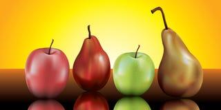 Vida das peras e das maçãs ainda Fotos de Stock