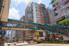 Vida de alta densidad ocupada en Hong Kong Fotos de archivo