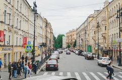 Vida de cada día en las calles de St Petersburg fotografía de archivo libre de regalías