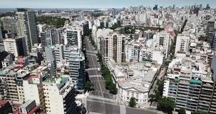 Vida de cada día urbana 4k de Buenos Aires almacen de metraje de vídeo