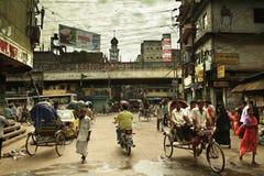 Vida de calle en Dacca vieja Imágenes de archivo libres de regalías