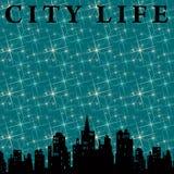 Vida de cidade ilustração royalty free