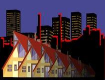 Vida de cidade ilustração stock
