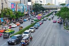 Vida de cidade de Banguecoque Foto de Stock