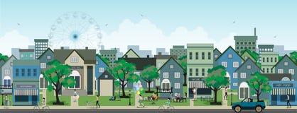 Vida de ciudad stock de ilustración