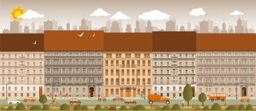 Vida de ciudad ilustración del vector