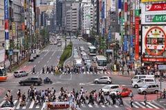 Vida de ciudad de Tokio Foto de archivo libre de regalías