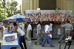 Vida de ciudad en el centro de Rio de Janeiro Fotografía de archivo libre de regalías