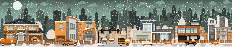Vida de ciudad (invierno) stock de ilustración