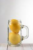 Vida de dos todavía limones Foto de archivo libre de regalías