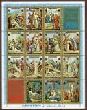 Vida de Jesus Christ, la estación de la cruz - franqueo jpg Fotografía de archivo