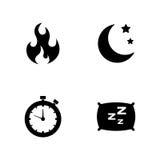 Vida de la actividad Iconos relacionados simples del vector Foto de archivo