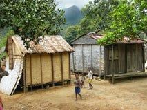 Vida de la aldea en Madagascar foto de archivo