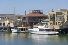 Vida de la comunidad del puerto deportivo de Richmond California Imágenes de archivo libres de regalías