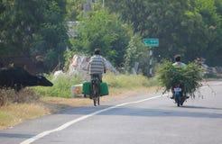 Vida de la cría de animales y del pueblo, la India Imagenes de archivo