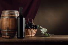 Vida de la degustación de vinos y todavía de la fruta Fotografía de archivo libre de regalías