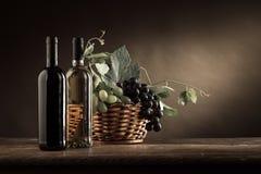 Vida de la degustación de vinos y todavía de la fruta Imagen de archivo libre de regalías