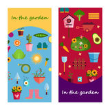 Vida de la granja en la bandera del jardín Ilustración Imagen de archivo libre de regalías