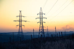 Vida de la línea eléctrica Foto de archivo libre de regalías