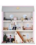 Vida de la Navidad en una casa de muñeca Foto de archivo libre de regalías